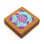 China Wholesale 15*15cm Ceramic Trivet with Cork Holder for Home Decoration for sale