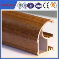 Wood finished aluminum extrusion profiles,aluminum window frames price for South Africa