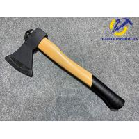 China 600G Size Forged Steel Materials Axe with Natrual color wooden handle and hook for sale