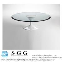 Wholesale CE& SGS certificated Excellence quality bevelled edge table top glass from china suppliers