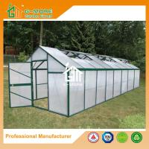 Quality Aluminum Greenhouse-Titan series-806X306X243CM-Green/Black Color-10mm thick PC for sale
