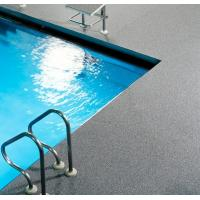 China Around Swimming Pool Rubber Flooring Rolls All Weather Available Slip Resistant on sale