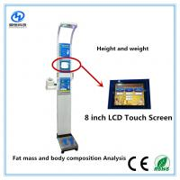China Ultrasonic height weight scales with blood pressure , temperature, fat mass  for medical  Equipment for sale