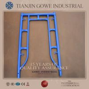 Blue painted frame scaffolding system 1200 * 1524mm , ladder frame scaffolding