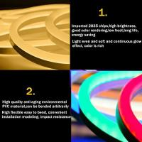 Wholesale Super Brightness Led Ultra Thin Neon Flex Rope Light Waterproof Resistant from china suppliers