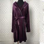 China Deep Purple Women Pyjama Set / Sleeping Gown / Bathrobes For Winter for sale