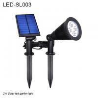 China 2W IP44  black spike waterproof outdoor solar LED light & Solar led garden light for sale