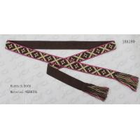 Wholesale Mixed Colors Woven Tape Womens Fashion Belts For Dresses With Tassel In Two Sides from china suppliers