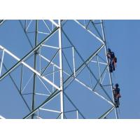 Power Steel Transmission Tower , 5 - 190 KM / H Wind Pressure High Tension Electrical Towers for sale