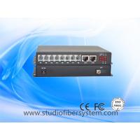 Wholesale 8Port Telephone line to Fiber Converter with 2ch gigabit ethernet for armed police system from china suppliers