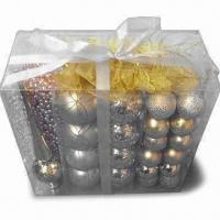 Wholesale Christmas Spheres in Frosted or Shiny Finish, Customized Designs are Welcome from china suppliers