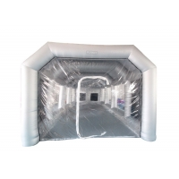 Wholesale 6x4x3m UV Resistant Silver Inflatable Car Spray Booth Painting Station For Car Painting from china suppliers