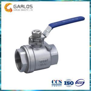 2PC female thread stainless steel ball valve