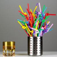 China Colorful / Black Coffee Straws , Wedding Party Disposable Plastic Straws on sale