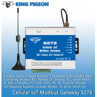 Wholesale S278 Cellular IoT Modbus Gateway(4DIN,2Relay,1TH,USB,RJ45,RS485,320 Mapping Registers) from china suppliers