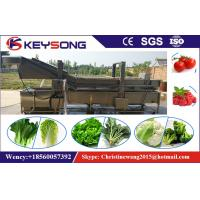 Wholesale Industrial Bubble Vegetable Washer Machine , Big Capacity Vegetable Processor Machine from china suppliers