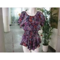 Wholesale Silk Print Blouse from china suppliers