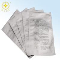 Buy cheap Silver printing al moisture barrier bag with top open or ziplock type from wholesalers