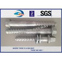 M24 X 214mm Railway Sleeper track spikes or screw spikes With HDG coatings for sale