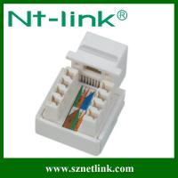 China 90 degree rj45 cat5e utp female keystone jack on sale
