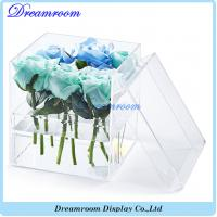 Wholesale Wholesale Clear Transparent 9 Rose Display Acrylic Flower Box from china suppliers