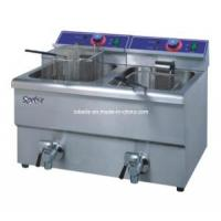 Wholesale Hf-12L-2 Stainless Steel Electric 2-Tank Desktop Fryer (2-basket, counter-top) from china suppliers