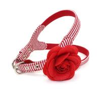 China Cute Flower Dog Collars And Leashes Perfect Fit Harness With Safety Hooks for sale