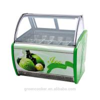 Electric Gelato Display Case , Single Temperature Commercial Display Freezer for sale