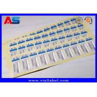 Wholesale 2 ml Steroid Bottle Labels Stickers For Injections Steroids Custom Silver foil Printing from china suppliers