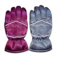 Wholesale Sports Ski Gloves with TR Lining, Made of 100% Polyester from china suppliers