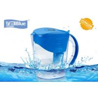 Eco Friendly 3.5L Wellblue Alkaline Water Filter Pitcher With Negative Ion Ceramic Balls for sale