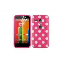 Wholesale Colorful Polka Dots Soft TPU Gel Case For Motorola Moto G With Free Screen Protector from china suppliers