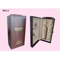 Wholesale OEM Wooden Single Wine Packaging Boxes With Hot Stamping Logo from china suppliers