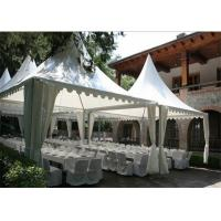 Wholesale Wind Proof Pagoda Party Tent 25sqm With Round / Square Clear PVC Window from china suppliers