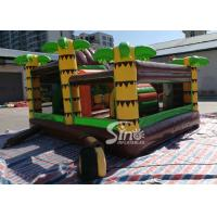 Quality Dinosaur Park Inflatable Bounce Slide Combo Jumping Castle With Slide For for sale