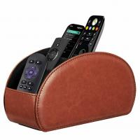 China PU Leather Remote Controller Organizer TV Guide/Mail/Media Desktop Organizer Caddy Holder Key Organizer for sale