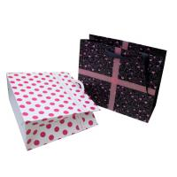 Colorful Sweet Paper Carrier Bag With Ribbon Handle for Gift Packing 230gsm paper, matt finish for sale