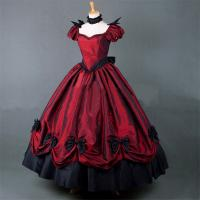 Wholesale Medieval Dress Wholesale XXS to XXXL Custom Made Red Puff Sleeves ROCOCO Ball Gown Gothic Medieval Victorian Dress from china suppliers