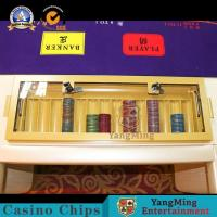 China Original Layout Print Baccarat Texas Poker Table 8-10 Player Logo Customized for sale