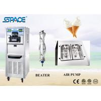 Gravity Feed Soft Ice Cream Maker Machine With 48Liter/Hour Large Capacity for sale