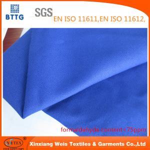 Best YSETEX EN470-1 EN531 320gsm flame retardant fabric in royal blue color wholesale