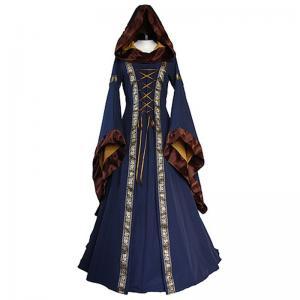 Wholesale Medieval Dress Wholesale XXS to XXXL Custom Made Sarah Navy Blue-Saffron Medieval Renaissance Victorian Dress cosplay from china suppliers