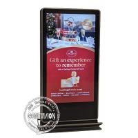 China 65 Inch Double Sided Android Nano Film Touch Screen Kiosk Face Camera Stainless Steel Footbar LCD Interactive Totem on sale