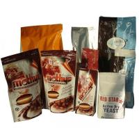 PET Zip-Lock Plastic Coffee Bags with Bottom Gusset for sale