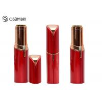 Quality Rechargeable Mini Painless Face Hair Remover Gold Plated Lipstick Shaped for sale