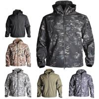 China Soft Shell Custom Outdoor Clothing , Mens Tactical Jacket Heat Preservation Thermal Fleece for sale