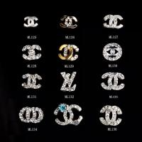 CC Fashion Brand Logo Alloy Jewelry 3D DIY Rhinestone Nail Art Glitters Slices ML125-136