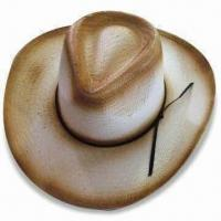 Wholesale Paper Straw Cowboy Hat, Suitable for Summer and Natural Use, Environment-friendly from china suppliers