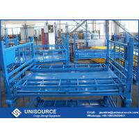 Size Customized Foldable Metal Box Heavy Duty Metal Pallet Cage For Warehouse