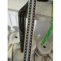 Wholesale Hot Fix Weave Crystal Trimmings Resin Strip Glass Stones Rhinestone with Weave Banding Fashion Decoration Garment Trim from china suppliers